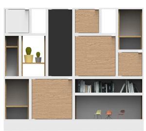 roomdivider of wandkast, pantry op kantoor.