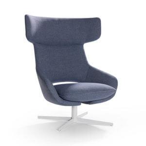 Artifort Kalm Patrick Norguet fauteuil grijs gepoedercoat onderstel design