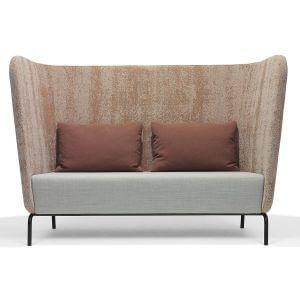 Broes03 Red Stitch 2 zits sofa bank bruin zwart onderstel design lounge