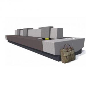 COwerk Benck grijstinten losse elementen zelf samenstellen wachtruimte lobby bank comfort design