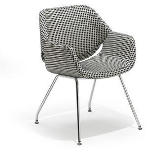 GAP_P00_05H low Artifort Gap verchroomd 4-poots onderstel zwart wit decor stoel