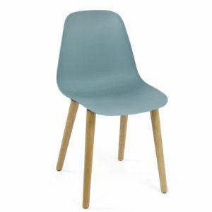 Crassevig Pola Light stoel design houten 4-poots onderstel kantine bedrijfsrestaurant grijs