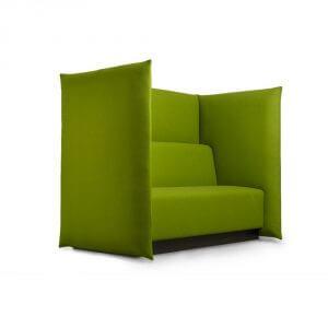 Red Stitch Leaf bank groen comfortbel akoestische bank kantoormeubel blad boom