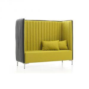 Red Stitch Tweeks bank mosterd geel akoestische bank Marico Mulders fauteuil comfortabel Fame Gabriel losse kussens