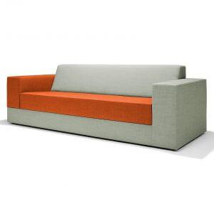 RedStitch Colors bank oranje grijs lounge design