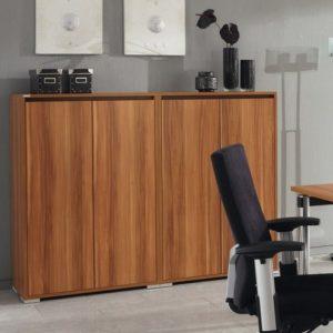 SELECT bureaukast Palmberg kastprogramma opbergkast schuifdeur kantoor bureaustoel computer lamp
