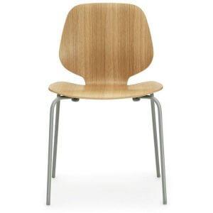 Normann Copenhagen Form Mychair stoel eikenhout grijs 4-poots onderstel