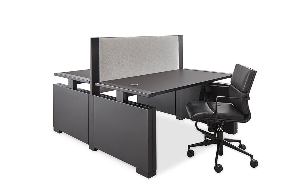 Rock Design Djunky zwart duo werkplek hoog laag stoel