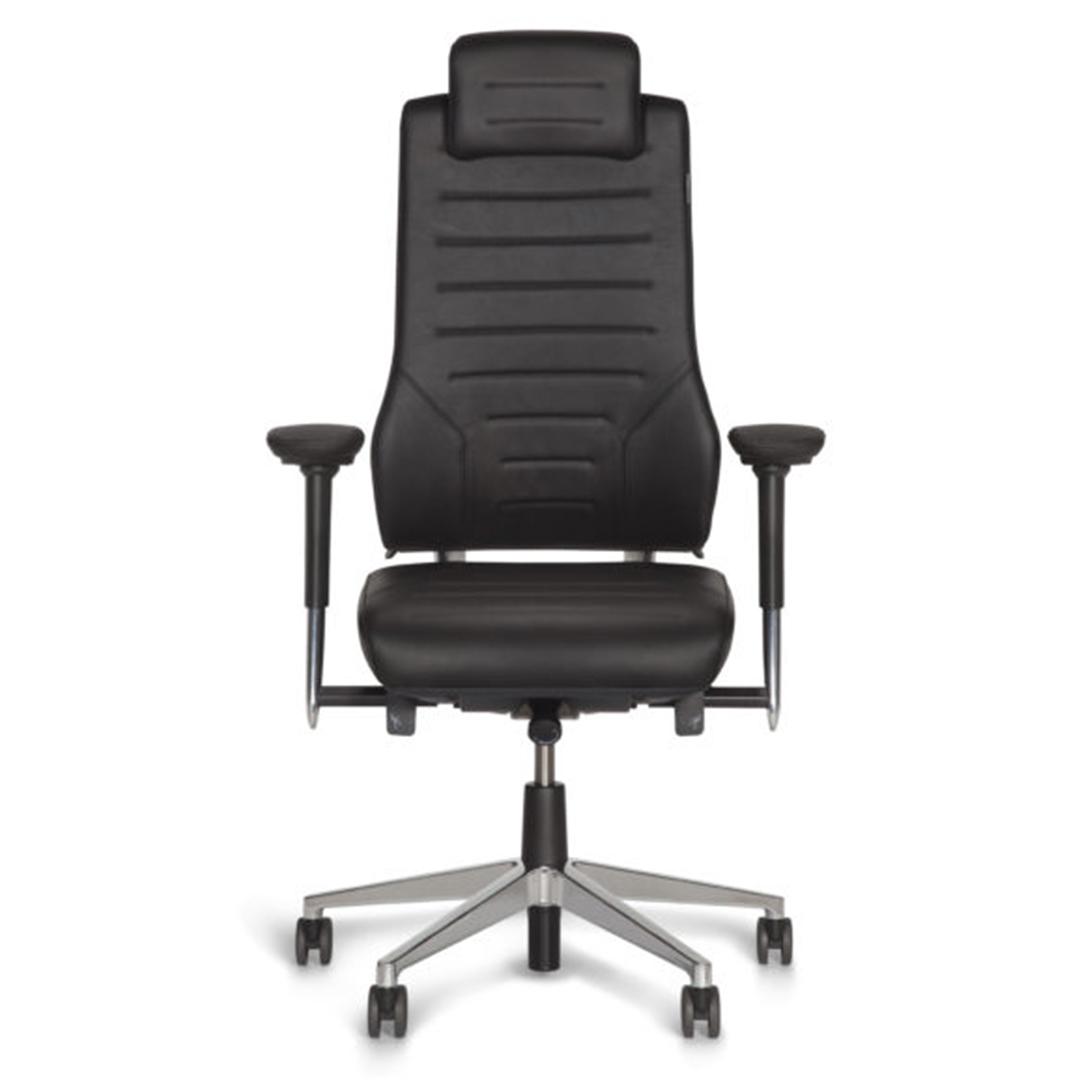 Axia Vision 24/7 bureaustoel voor dealingrooms, 24/7 receptiewerkplekken, callcenters meldkamers, zwart met hoofdsteun