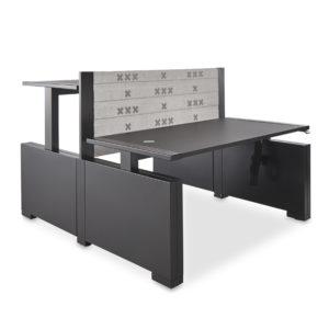 Rock zit-sta bureau hoog laag zwart