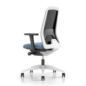 Every bureaustoel Interstuhl blauw grijs