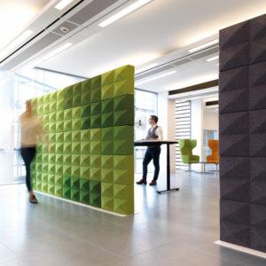Fabricks bricks modulaire akoestische roomdividers