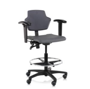 spirit Score werkstoel met wielen en voetenring