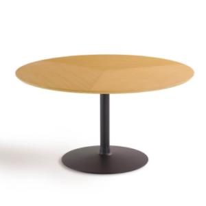 Artifort / Circle / Pierre Paulin bijzettafel rond blad ronde voet houten blad poedercoat onderstel