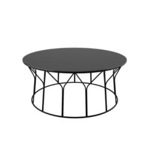 Circus Offecct ontwerpersduo Formfjord tafel bijzettafel salontafel gelakt tafelblad rond plantenbak