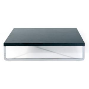 Mare T Artifort Rene Holten bijzettafel vierkant zwart blad onderstel gepolijst RVS design