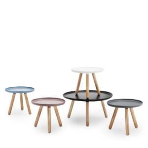 Tablo Table Normann Copenhagen bijzettafel salontafel Wiig Hansen Nordic Design eenvoud rond 3 poots hout