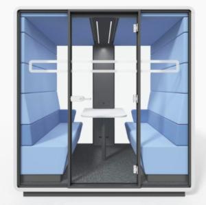 HUSH Mikomax Office Loft blauw werkplek