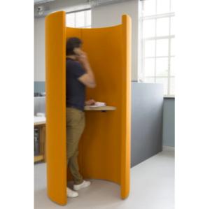 telefooncel staand akoestische oplossingen voor kantoor oranje