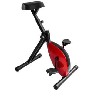 Deskbike rood acief werken bureaustoel fietsen gezond design nieuwe werken zwart lichaamsbeweging doorbloeding bovenbeenspieren