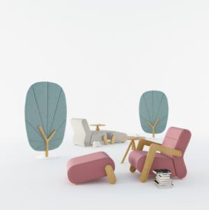 Mikomax Base loungestoel pastel oudroze