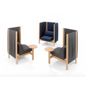 Velum girsberger lounge meubilair akoestisch