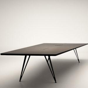 Lammhults Attach tafelsysteem design zwart trapezium