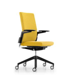 camiro bureaustoel girsberger geel zijaanzicht