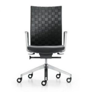 diagon Girsberger bureaustoel met zwart gevlochten rugleuning