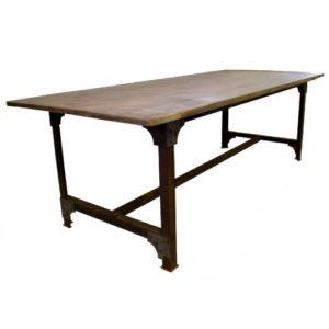 eiffel oud teak tafel stalen frame maatwerk Ardworks Procility