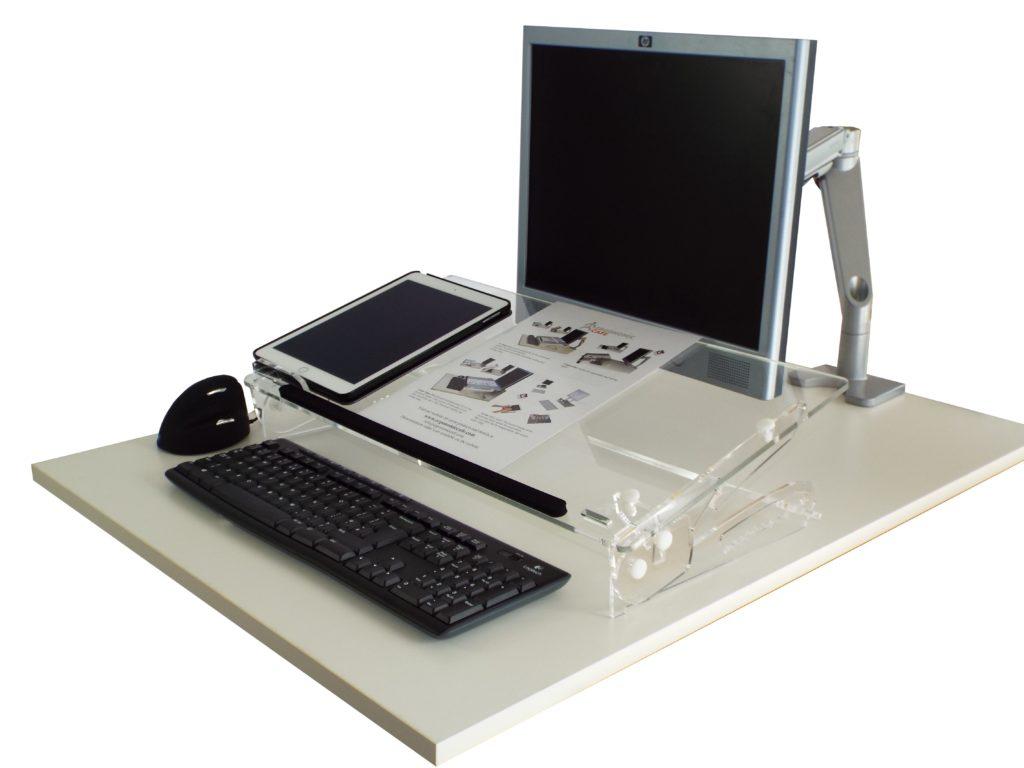 go-flex multifunctional documenthouder ergonomische accessoires met beeldscherm