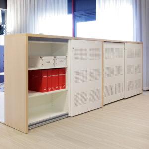 KSL store schuifdeurkasten half open kantoor