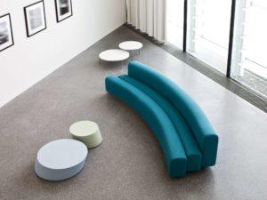 Osaka sofa buigbaar turquoise