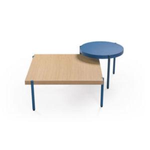 Header_Palladio_Side_Tables_v1 Artifort Mårten Claesson, Eero Koivisto en Ola Rune designkenmerk Palladio familie rond blad vierkant blad hout blauw wit