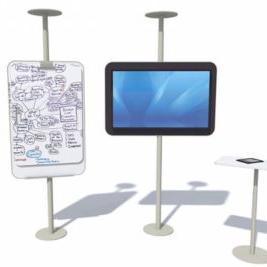 COwerk Panl stalen frame whiteboard scherm bijzettafeltje vergaderen