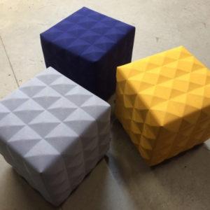 Hockers Procility poef verschillende kleuren en stoffering
