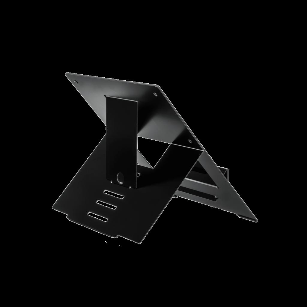 R-Go riser laptopstandaard achterkant zwart ergonomische accessoires