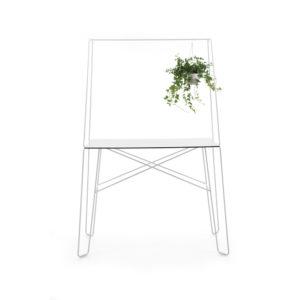 Het design van het tafeltje zorgt door middel van attributen voor een speels effect. Een leuke toevoeging aan het kantoormeubilair.