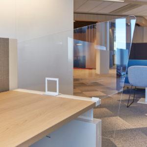 Design Djunky transparant bureauscherm